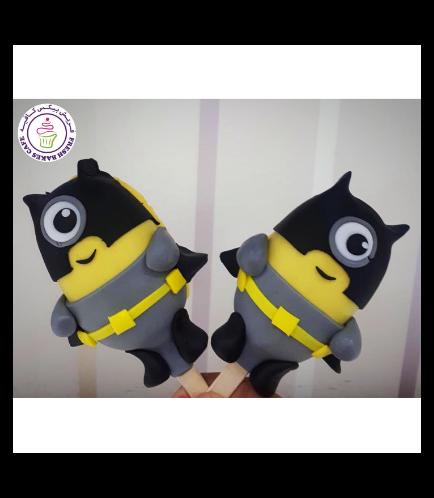 Minions Themed Popsicakes - Batman