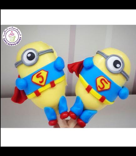 Minions Themed Popsicakes - Superman