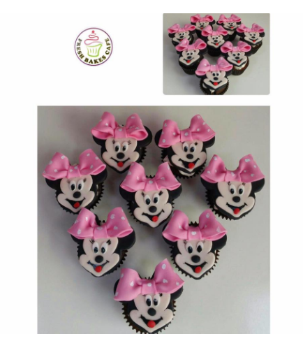 Minnie Mouse Themed Cupcakes - Fondant 01