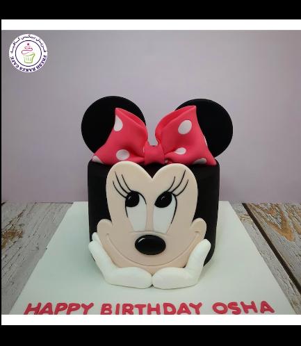 Minnie Mouse Themed Cake - Head - 2D Cake 03