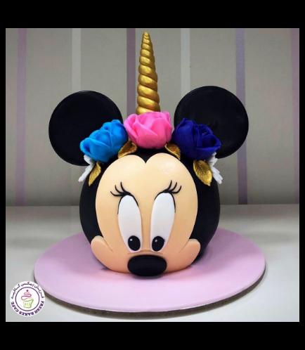Minnie Mouse Themed Cake - 3D Head Cake - Unicorn