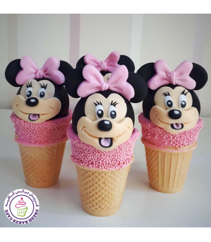 Minnie Mouse Themed Cone Cake Pops