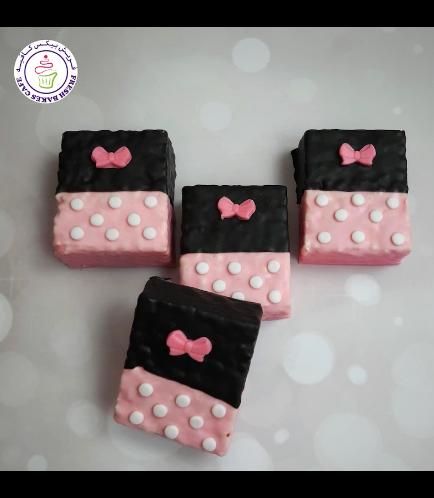 Minnie Mouse Themed Krispie Treats