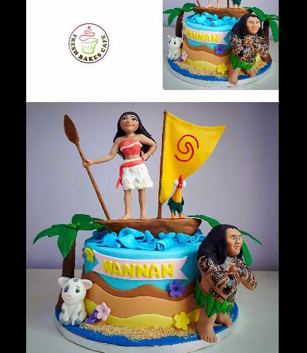Moana Themed Cake 11