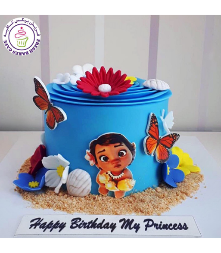 Cake - Baby Moana - 2D Printed Picture 01