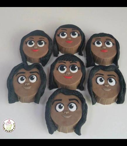 Moana Themed Chocolate Covered Oreos