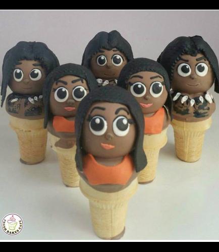 Moana Themed Cone Cake Pops