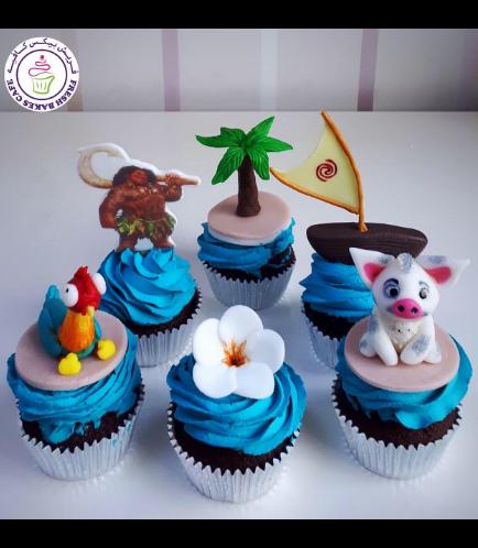 Moana Themed Cupcakes 01