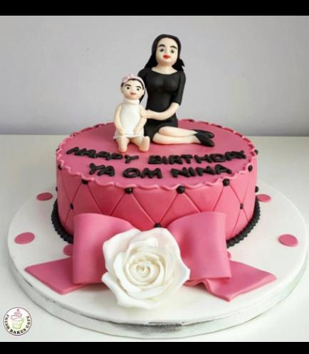 Mom & Child Themed Cake 01