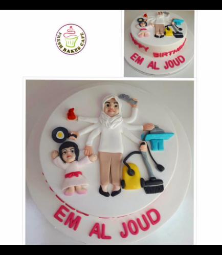 Mom & Child Themed Cake 02