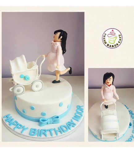 Cake - Mom to Be - 3D Pregnant Mom with Stroller 01a