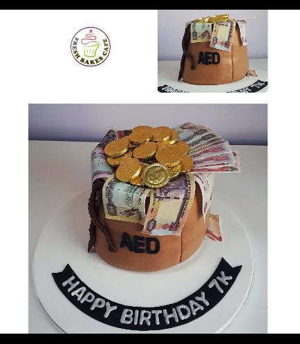 Money Bag Themed Cake