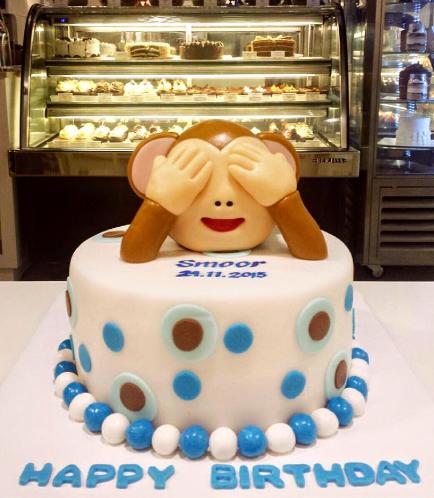 Monkey Themed Cake - Head - 3D Cake Topper
