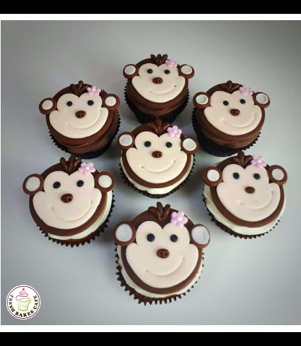 Monkey Themed Cupcakes 01