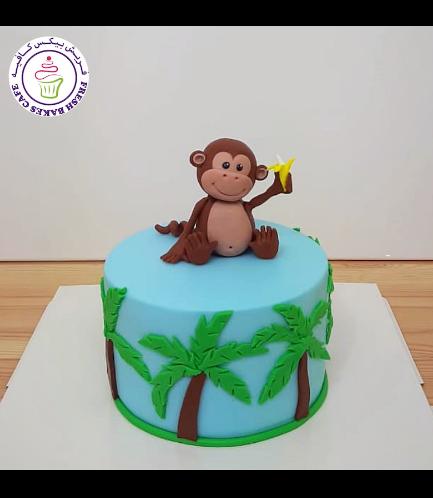 Monkey Themed Cake - 3D Cake Topper 03