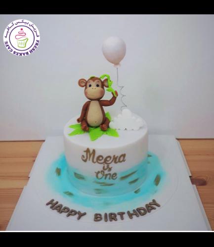 Monkey Themed Cake - 3D Cake Topper 02