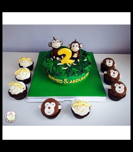 Monkey Themed Cake 08b