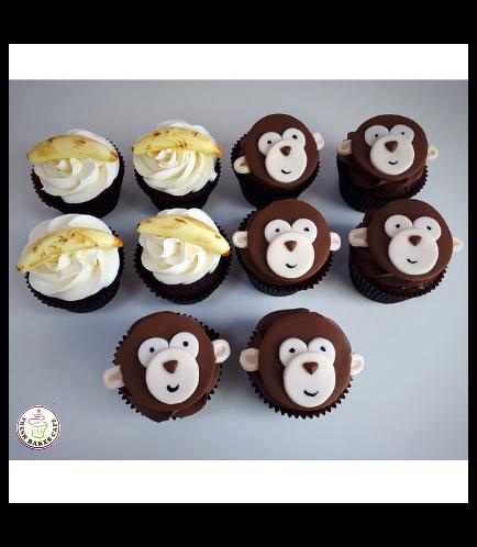 Monkey Themed Cupcakes 02