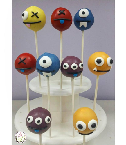 Monster Themed Cake Pops
