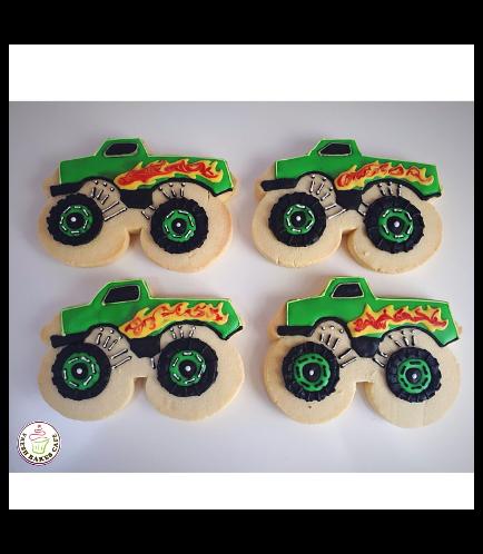Monster Truck Themed Cookies 01