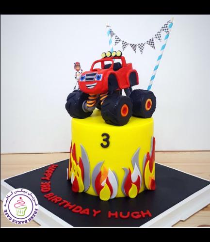 Monster Truck Themed Cake - Blaze 03
