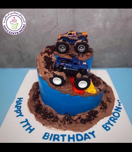 Monster Truck Themed Cake - Toys
