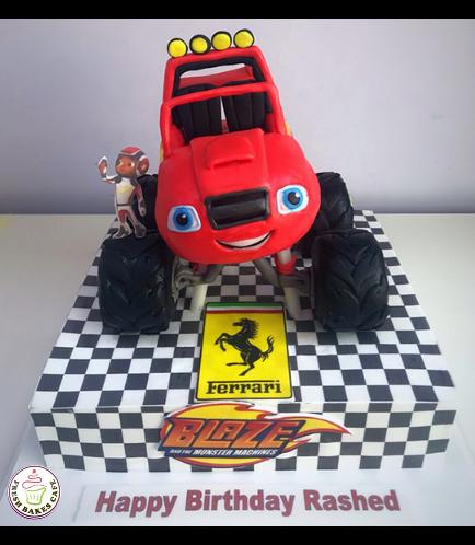 Monster Truck Themed Cake 01a