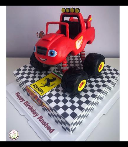 Monster Truck Themed Cake 01b