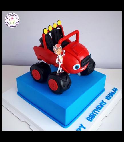 Monster Truck Themed Cake 02b