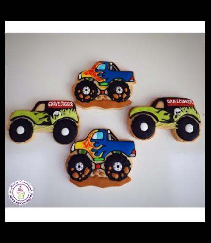 Monster Truck Themed Cookies 02