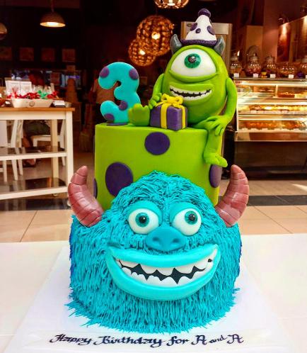 Monsters University Themed Cake