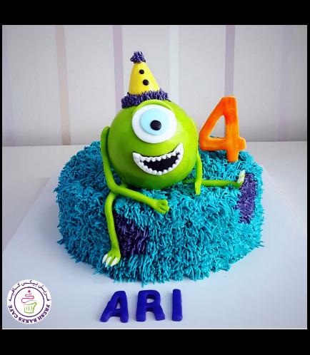 Monsters University Themed Cake 02