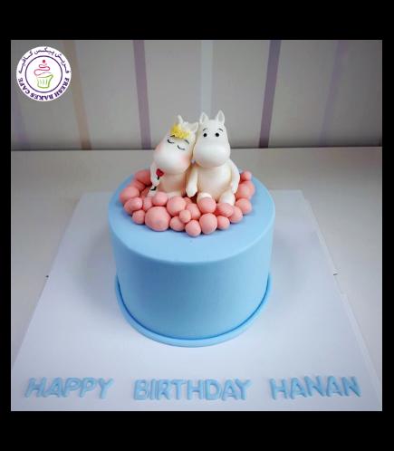 Moomintroll Themed Cake