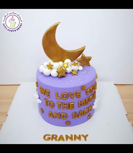 Cake - Moon & Stars - 2D Crescent Cake Topper
