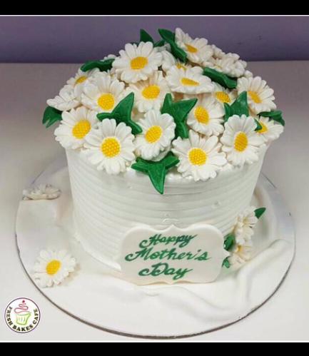 Cake - Daisies - 1 Tier 01