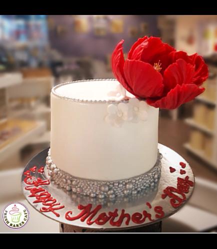 Cake - Peony - Fondant Cake - Flowers & Pearls