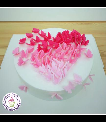 Cake - Heart - Butterflies