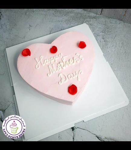 Cake - Heart Shaped - Rose Petals