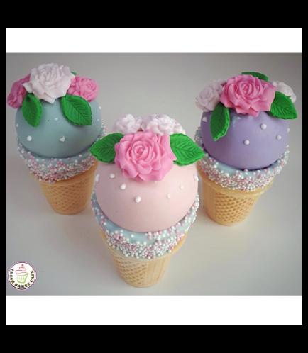 Cone Cake Pops - Roses 02