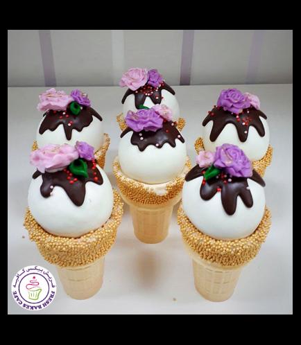 Cone Cake Pops - Roses 03
