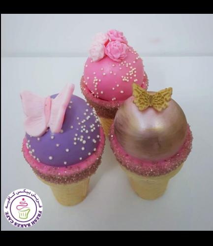 Cone Cake Pops - Butterflies & Flowers 03