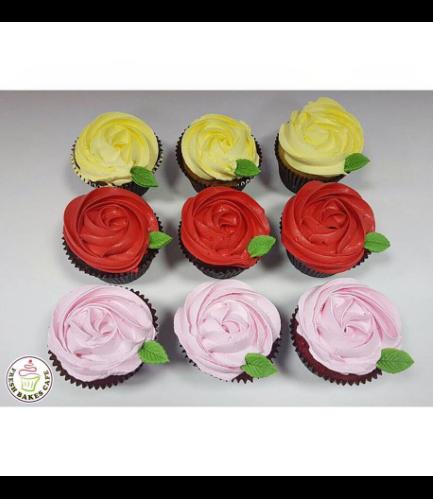 Cupcakes - Cream Rose 02