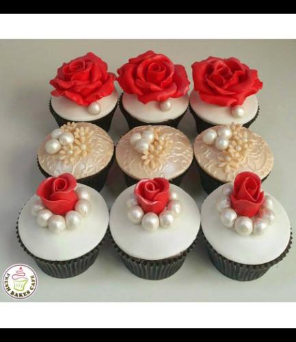 Cupcakes - Roses & Pearls 01