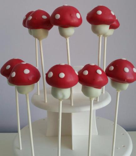 Mushroom Themed Cake Pops