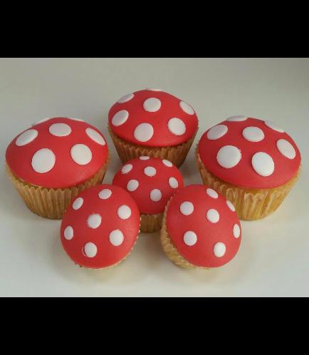 Mushroom Themed Cupcakes