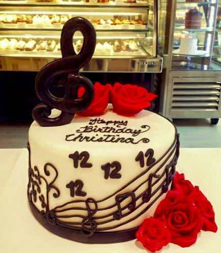 Music Themed Cake 3