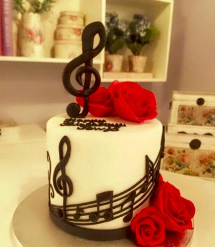 Music Themed Cake 4