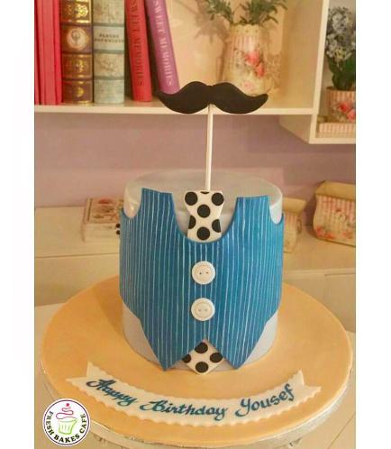 Mustache Themed Cake 03
