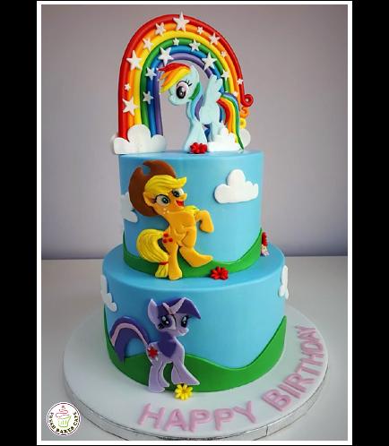 Cake - Picture - 2D Fondant Picture - 2 Tier