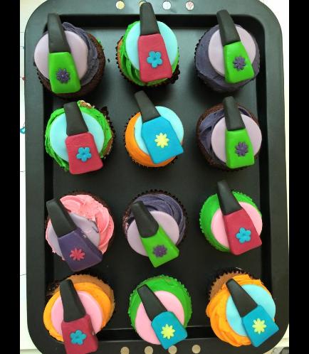 Nail Polish Themed Cupcakes